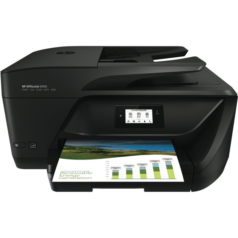 HP OfficeJet 6950 AiO Printer, A4, LAN, WiFi, duplex, ADF