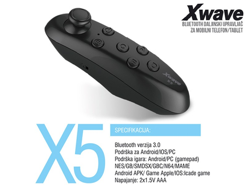 GAMEPAD XWAVE X5 BT VR