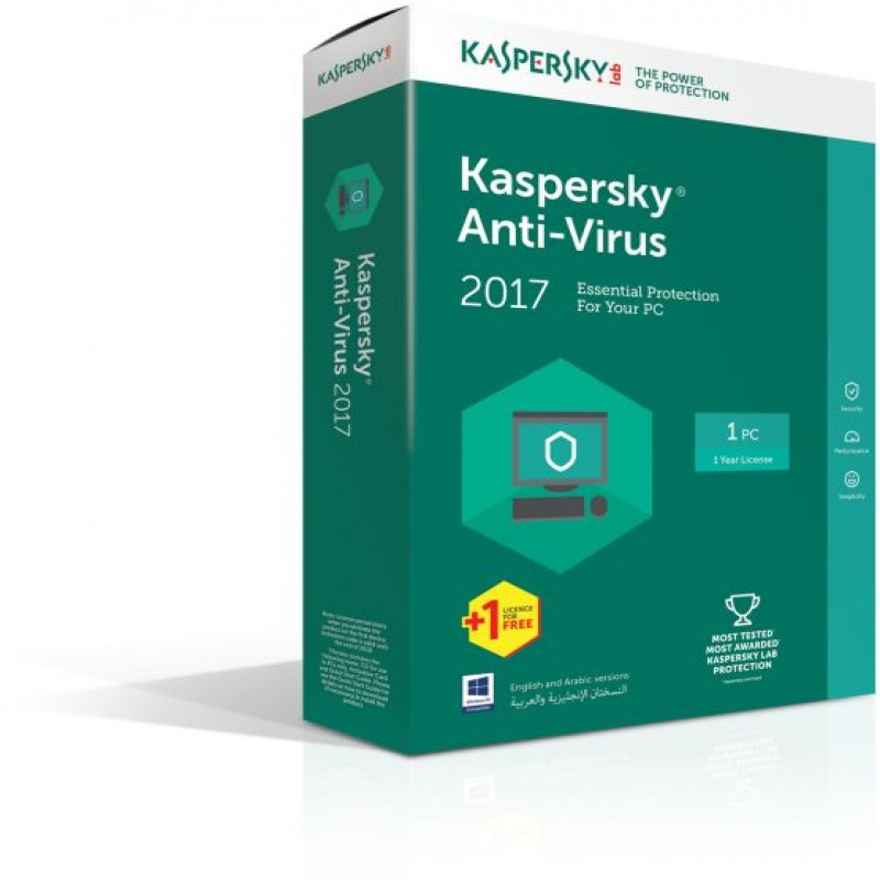 Kaspersky AntiVirus jedna licenca