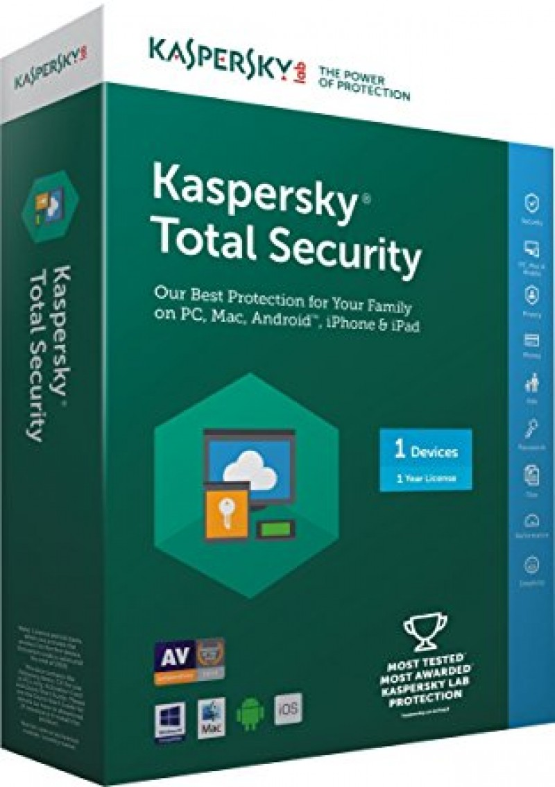 Kaspersky Total Security jedna licenca obnova