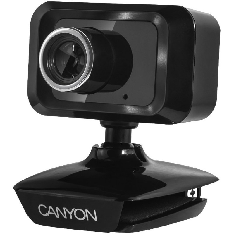 CANYON Enhanced 1.3 Megapixels resolution webcam with USB2.0 connector, cable length 1.25m, Black, 49.9x46.5x55.4mm, 0.065kg ( CNE-CWC1 )