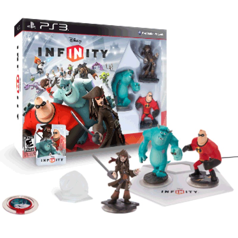 PS3 Infinity Starter Pack (Jack Sparrow+Mr.Incredible+Sulley+Game+Playset Piece+Power Disc)