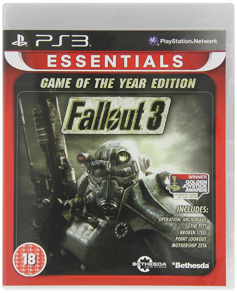 PS3 Fallout 3 GOTY Essentials