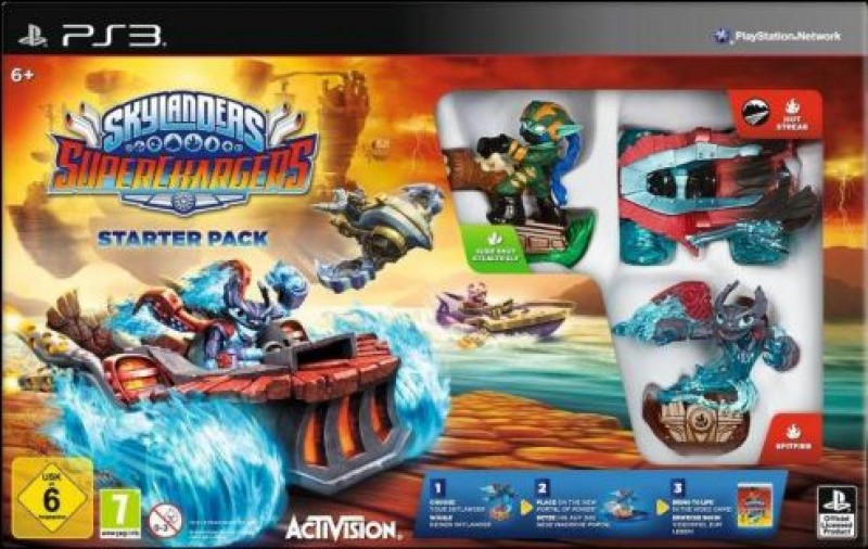 PS3 Skylanders SuperChargers Starter Pack + Battlecast Booster Pack (8 cards)