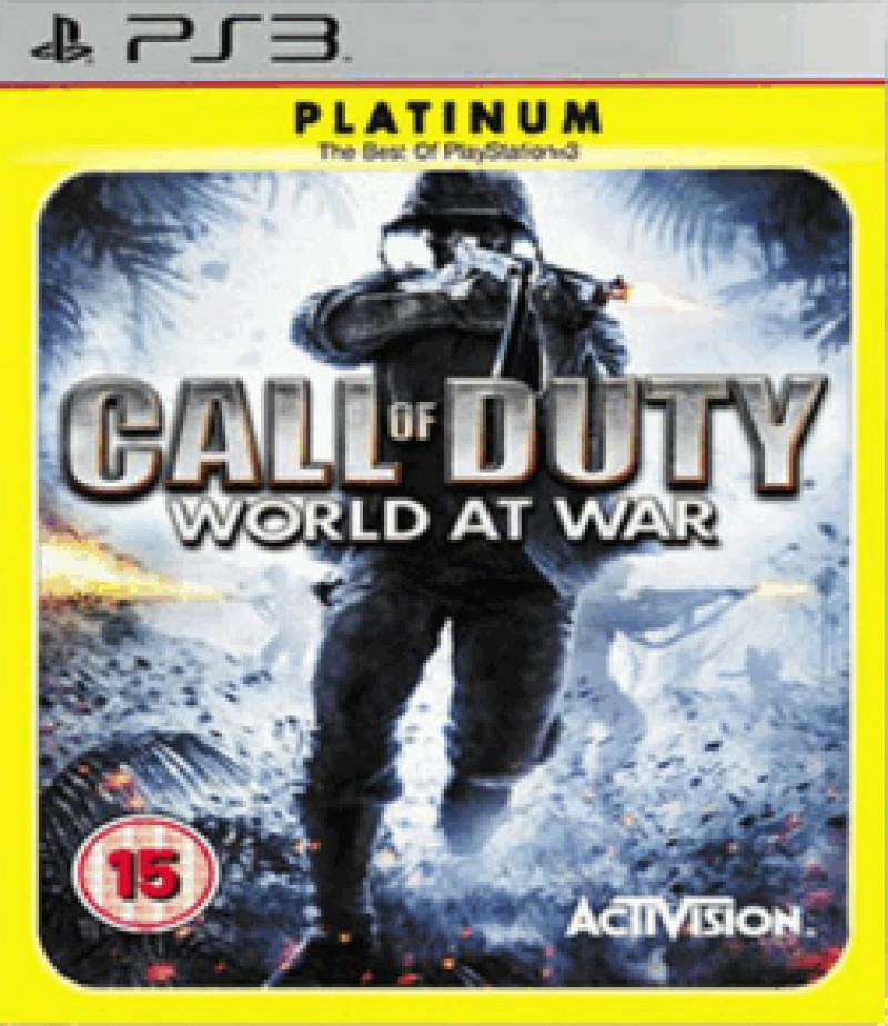 Activision Blizzard PS3 Call of Duty World at War Platinum