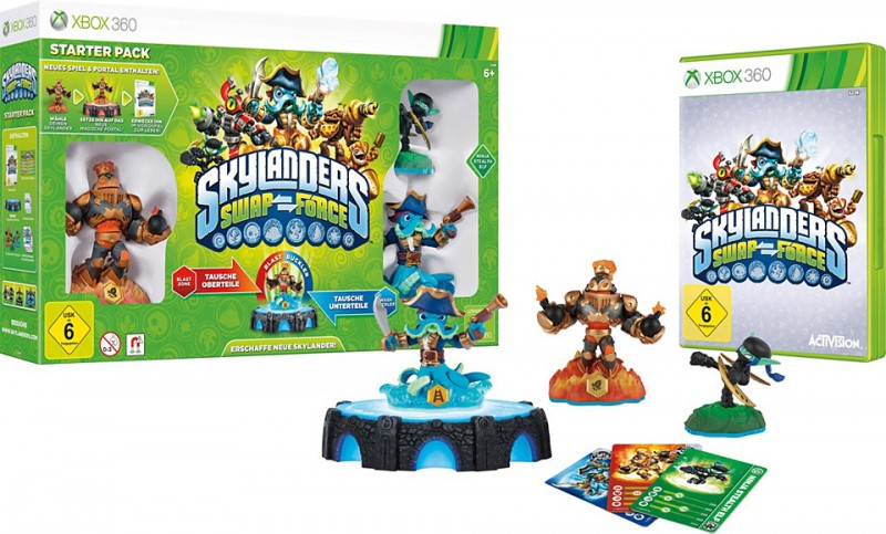 XBOX360 Skylanders SWAP Force Starter Pack (Game, Portal, Stealth Elf, Blast Zone, Wash Buckler)