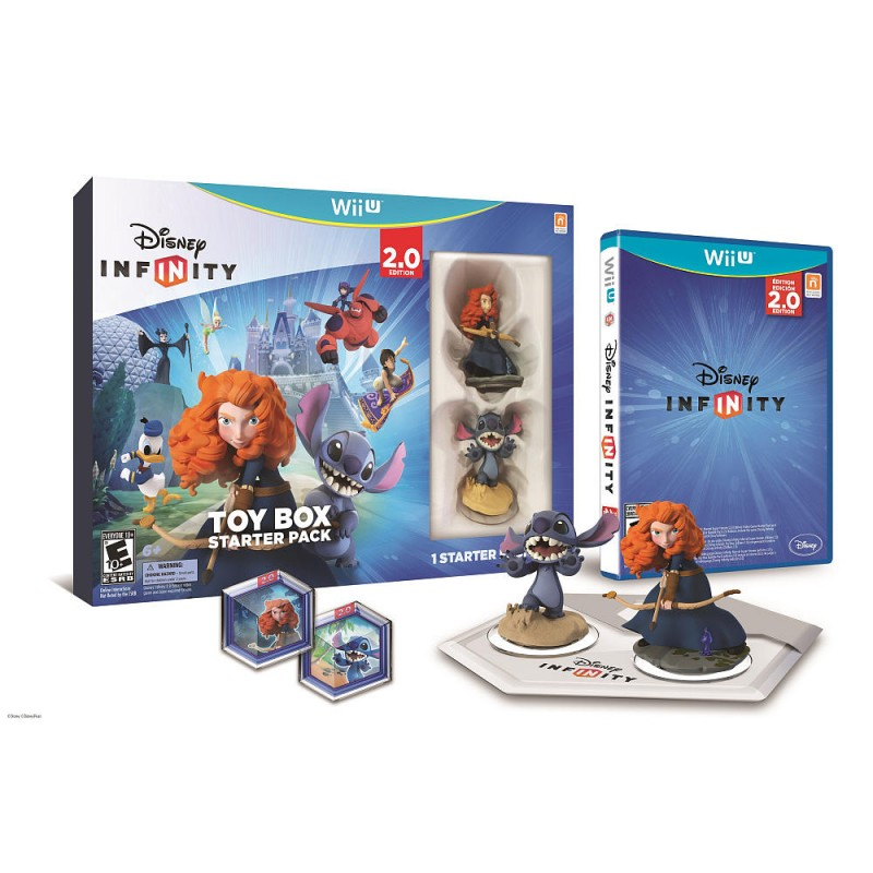 WiiU Infinity 2.0 Disney Originals Toybox Pack (Merida + Stitch + Game + Toybox Discs)
