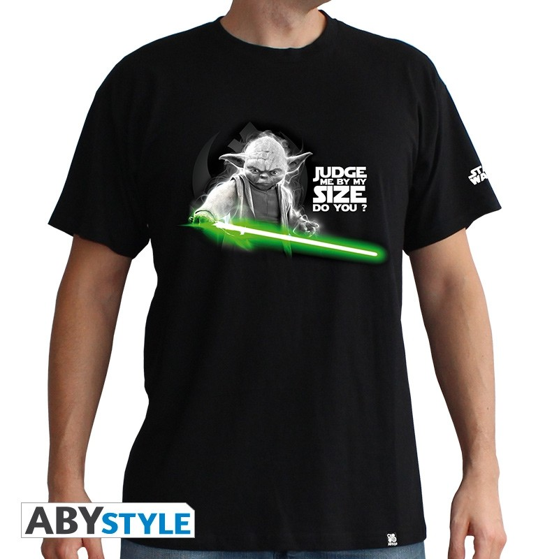 Majica STAR WARS - 'Yoda' muska black - basic S