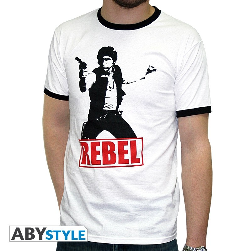 ABYstyle Majica STAR WARS - 'Han Solo Rebel' muska white - fashion XXL