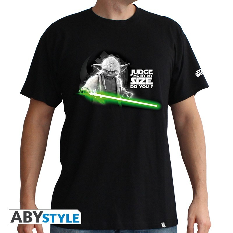 Majica STAR WARS - 'Yoda' muska black - basic L