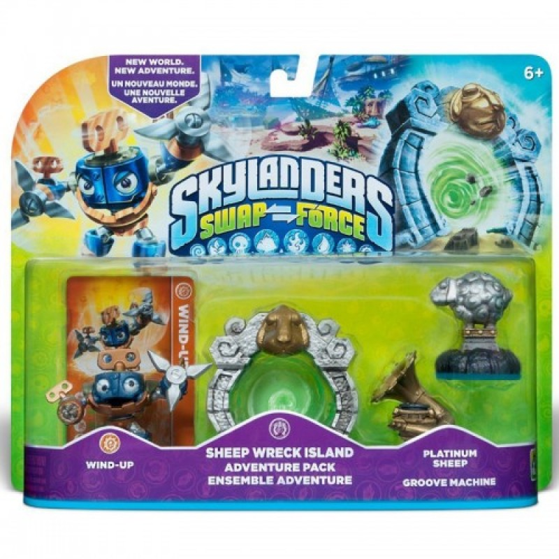 Skylanders SWAP Force Adventure Pack 2 (Wind up + Sheep Wreck + Platinum Sheep + Groove Machine)