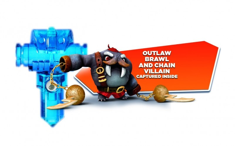 Activision Blizzard Skylanders Trap Team - Single Trap Water Log Holder Brawl & Chain preloaded