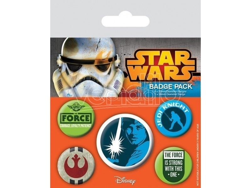 Disney Star Wars - Jedi Pin Badge Pack (5 Pins)