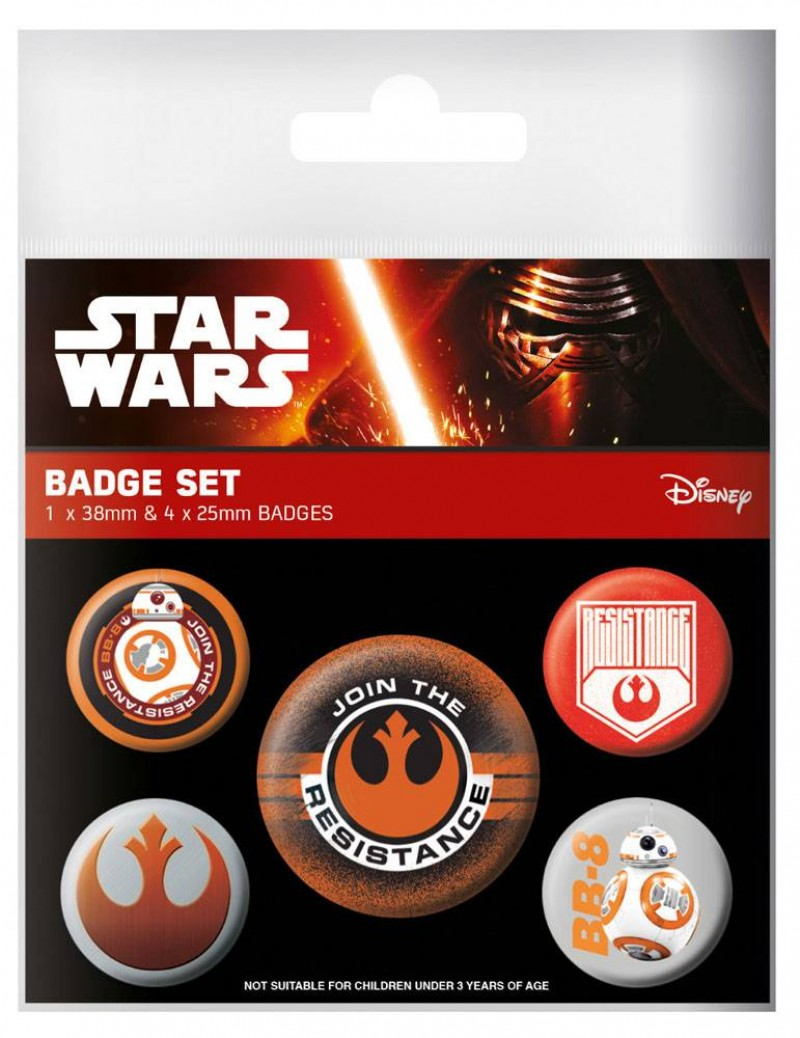 Disney Star Wars - Episode VII Resistance Pin Badges Set (5 Pins)