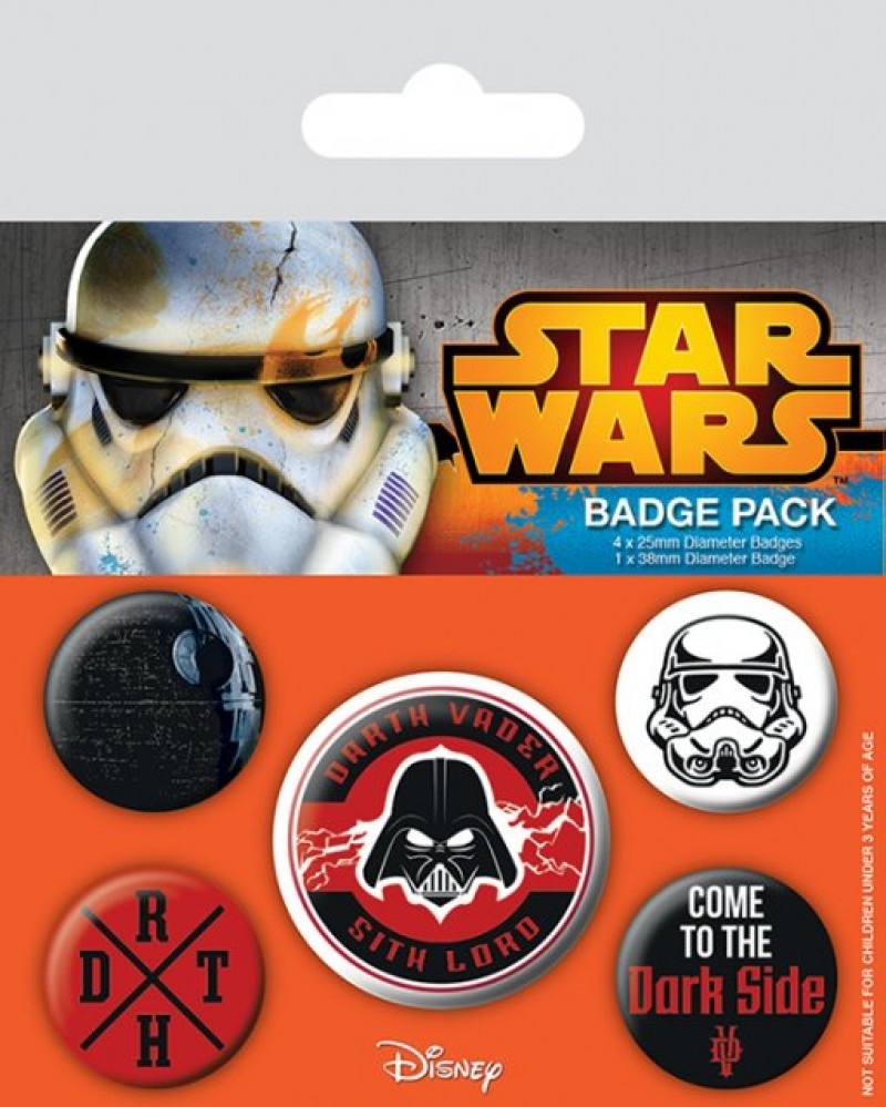 Disney Star Wars - Dark Side Pin Badge Pack (5 Pins)