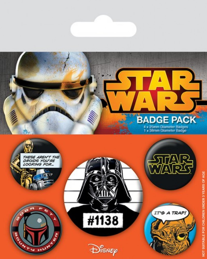 Star Wars - Cult Pin Badge Pack (5 Pins)