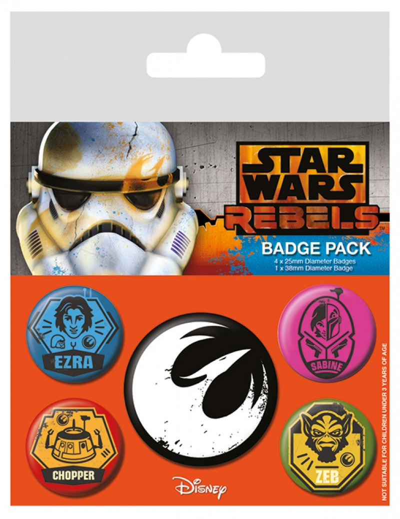 Star Wars - Rebels Pin Badge Pack (5 Pins)
