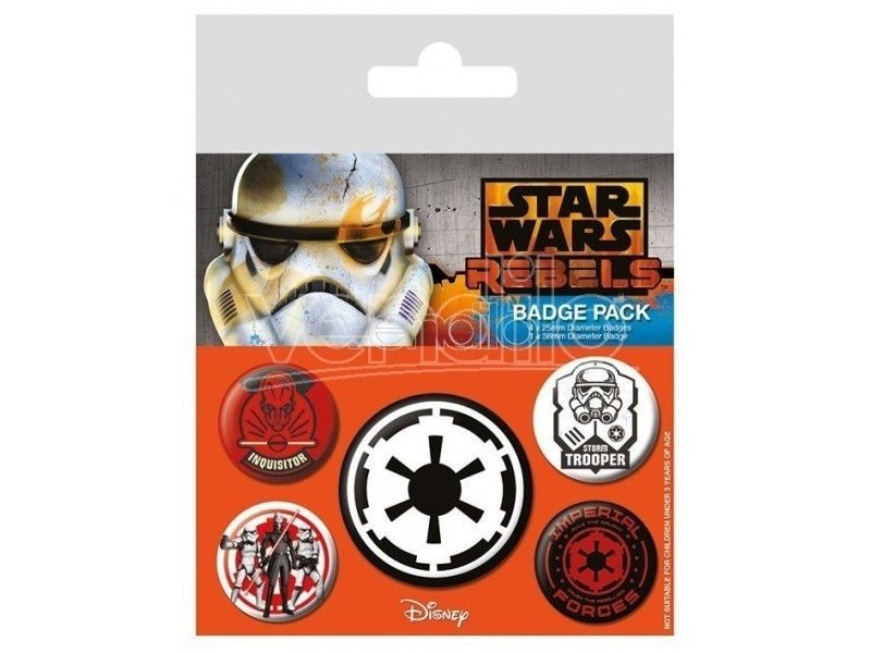 Disney Star Wars - Villains Pin Badge Pack (5 Pins)
