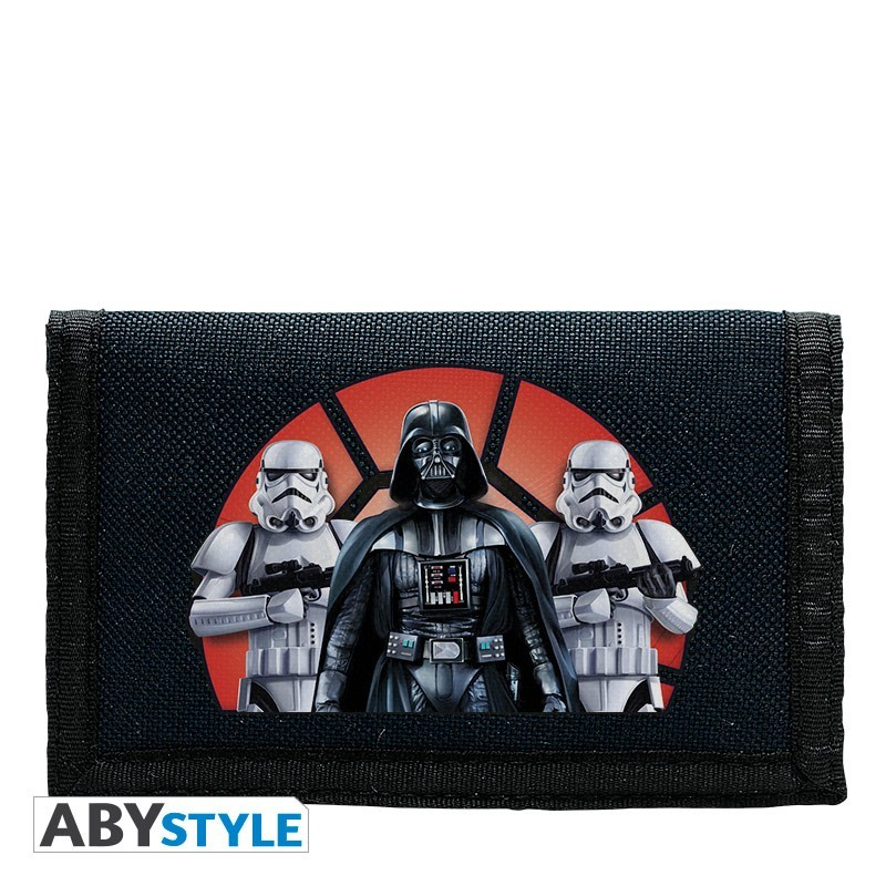 ABYstyle STAR WARS - Wallet 'Logo/Vader & Troopers' navy