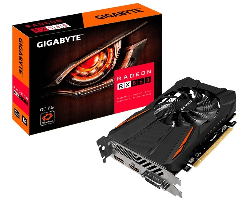 GIGABYTE Radeon RX 560 GAMING 2GB 128bit GV-RX560OC-2GD rev. 1.0