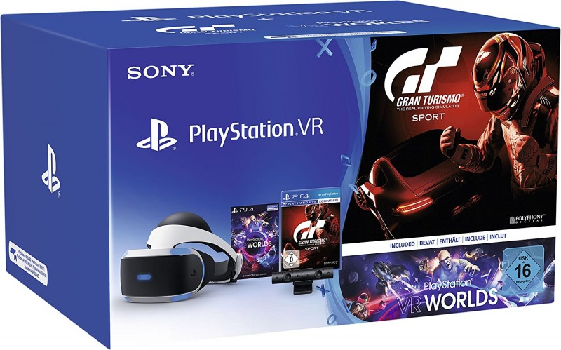 PS4 Virtual Reality + Gran Turismo Sport + Camera V2 + VR Worlds