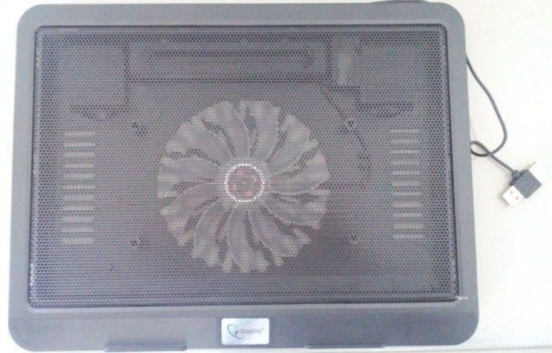 NBS-1F15-01 Gembird hladnjak za laptop 15.6 14cm LED FAN, 1000rpm, 23CFM, USB, 35x25cm
