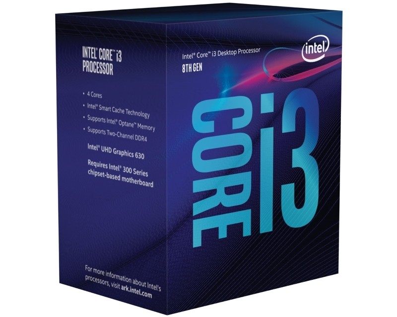 INTEL Core i3-8100 4-Core 3.6GHz Box