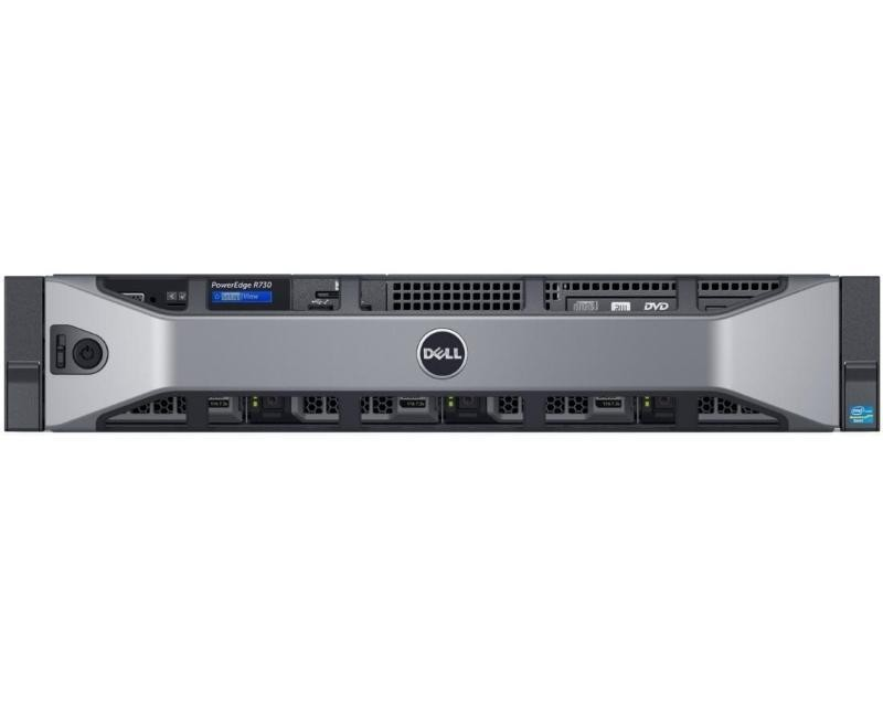 DELL PowerEdge R730 2x Xeon E5-2630 v4 10C 2x16GB H330 2x300GB SAS SD DVDRW 750W (1+1) 3yr NBD + VMware ESXi + Sine za Rack