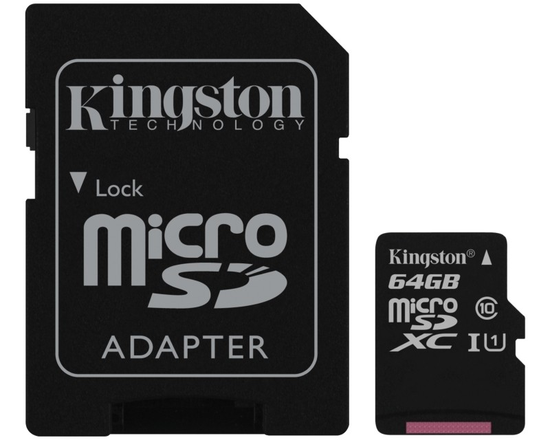 KINGSTON UHS-I MicroSDXC 64GB 80R class 10 SDCS64GB + adapter
