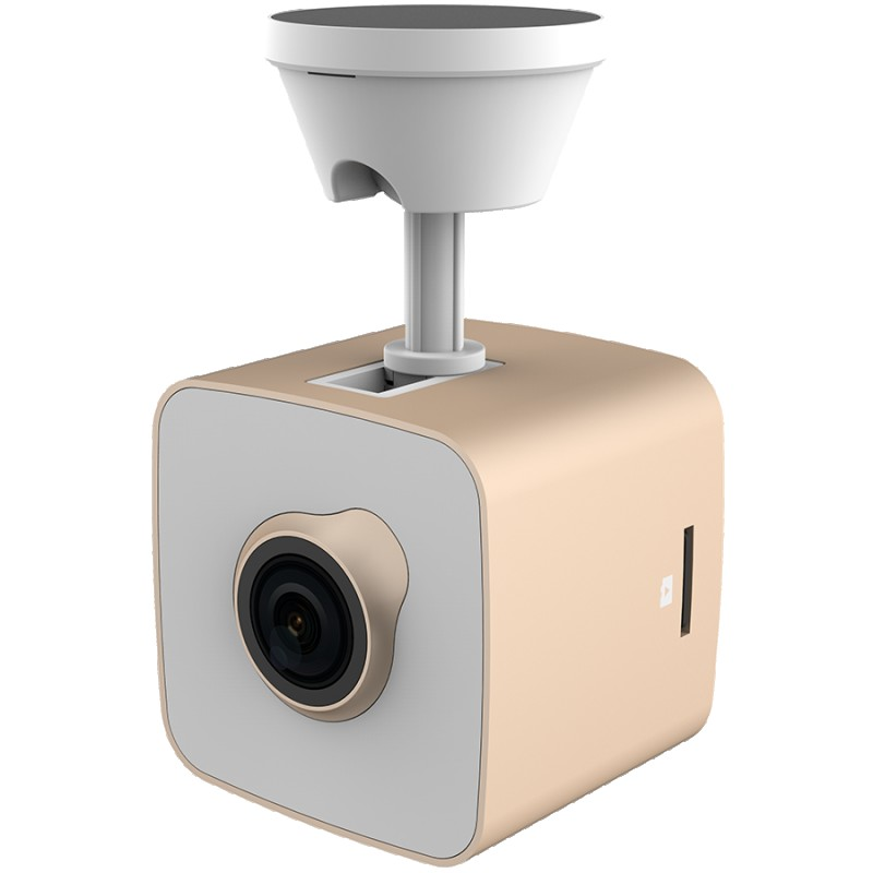 Car Video Recorder PRESTIGIO RoadRunner CUBE (FHD 1920x1080@30fps, 1.5 inch screen, 2 MP CMOS SONY IMX323 image sensor, 2 MP camera, 140° Viewing Angle, Micro USB, 150 mAh, WiFi, Motion Detection, G-sensor, Cyclic Recording, gold white, Metal+Plastic) ( PCDVRR530WGD )