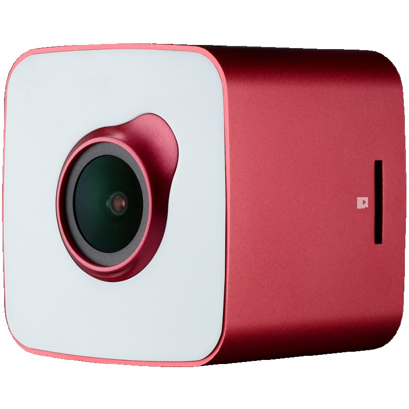 Car Video Recorder PRESTIGIO RoadRunner CUBE (FHD 1920x1080@30fps, 1.5 inch screen, 2 MP CMOS SONY IMX323 image sensor, 2 MP camera, 140° Viewing Angle, Micro USB, 150 mAh, WiFi, Motion Detection, G-sensor, Cyclic Recording, red white, Metal+Plastic) ( PCDVRR530WRW )