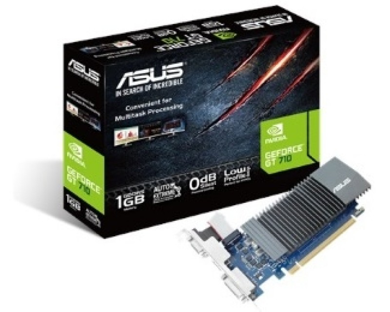ASUS nVidia GeForce GT 710 1GB 32bit GT710-SL-1GD5-BRK