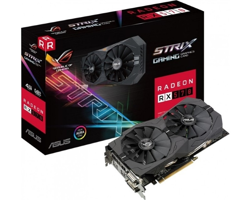 ASUS AMD Radeon RX 570 4GB 256bit ROG-STRIX-RX570-4G-GAMING