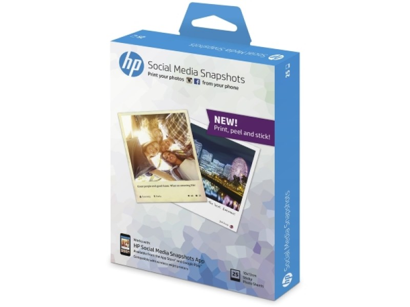 HP Social Media Snapshots, 25 sheets, 10x13cm (W2G60A)