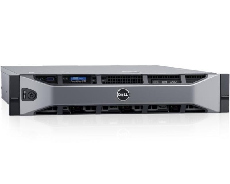 DELL PowerEdge R530 2x Xeon E5-2630 v4 10C 2x8GB H730 2x200GB SSD SD DVDRW 750W (1+1) 3yr NBD + VMware ESXi + Sine za Rack