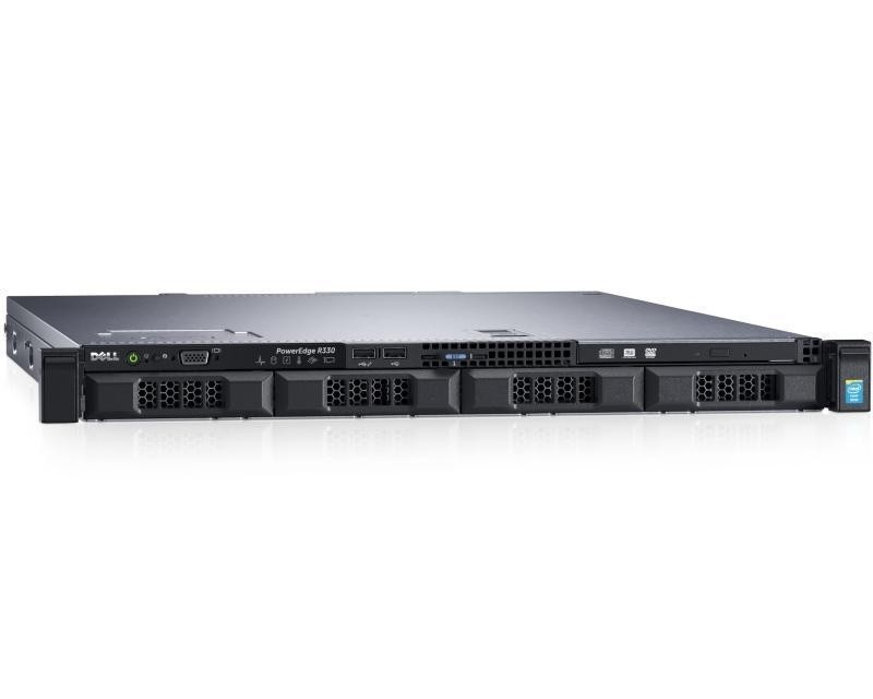 DELL PowerEdge R330 Xeon E3-1220 v6 4C 1x16GB H330 1TB SATA DVDRW 350W (1+0) 3yr NBD + Sine za Rack