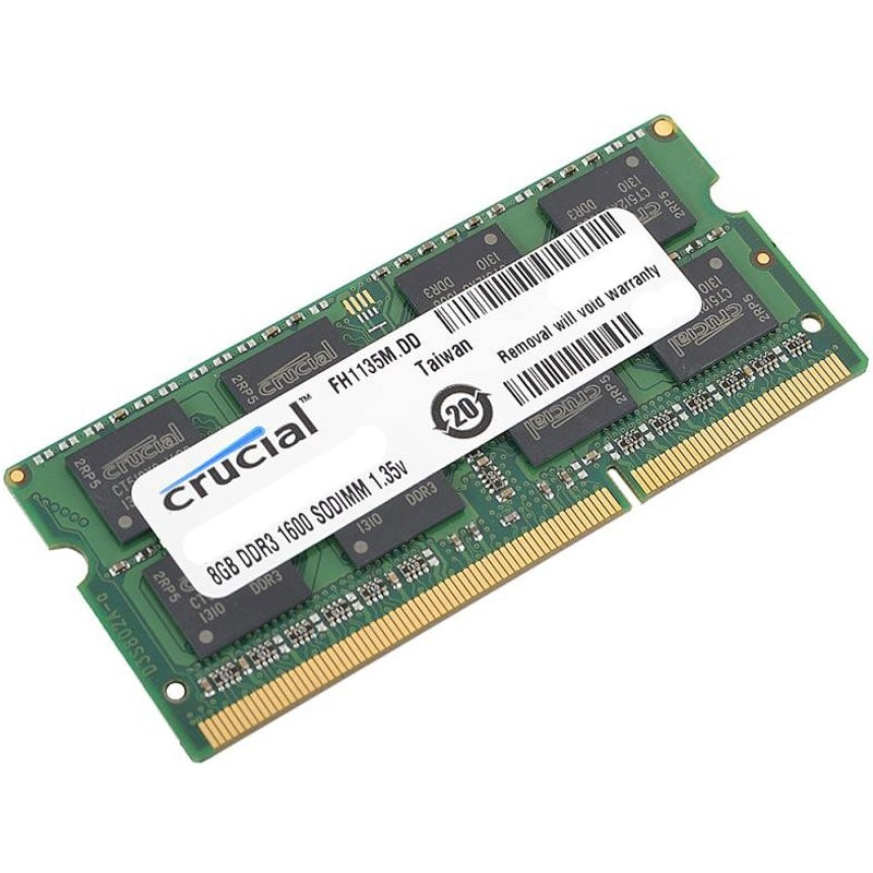 Crucial RAM 8GB DDR3 1600 MT s  (PC3-12800) CL11 SODIMM 204pin 1.35V 1.5V ( CT102464BF160B )