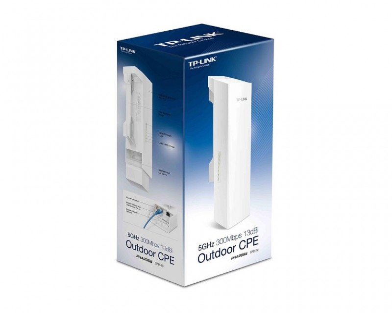 TP-LINK Antena Outdoor 5GHz 300Mbps Wi-Fi 13dBi, 23dBm, 10+ km (CPE510)