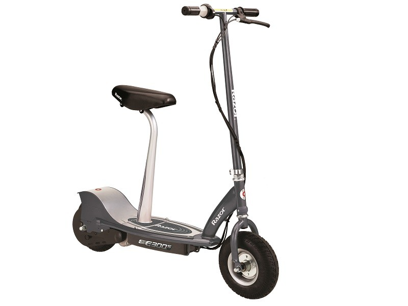 Electric E300 Scooter Seated - Matte Gray