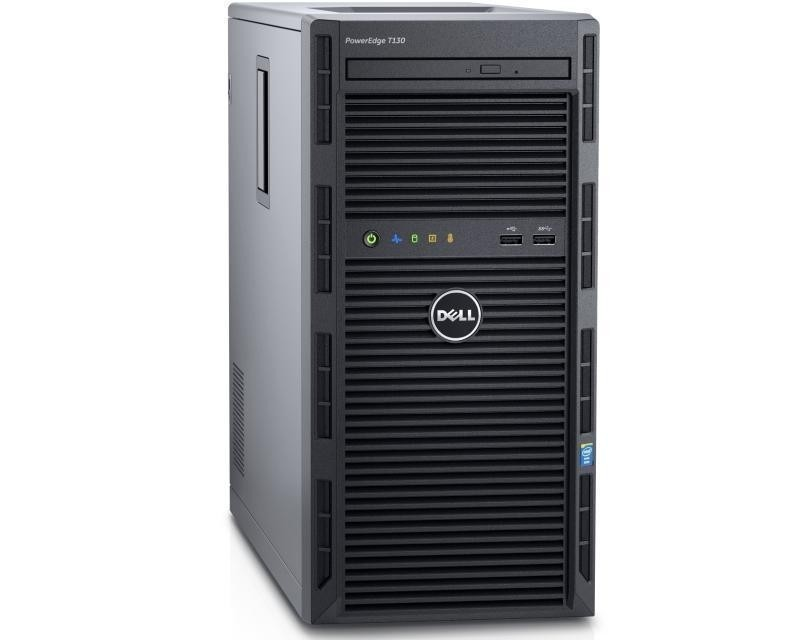 DELL PowerEdge T130 Xeon E3-1240 v6 4C 1x0GB H330 2x1TB NLSAS DVDRW 3yr NBD + VMware ESXi