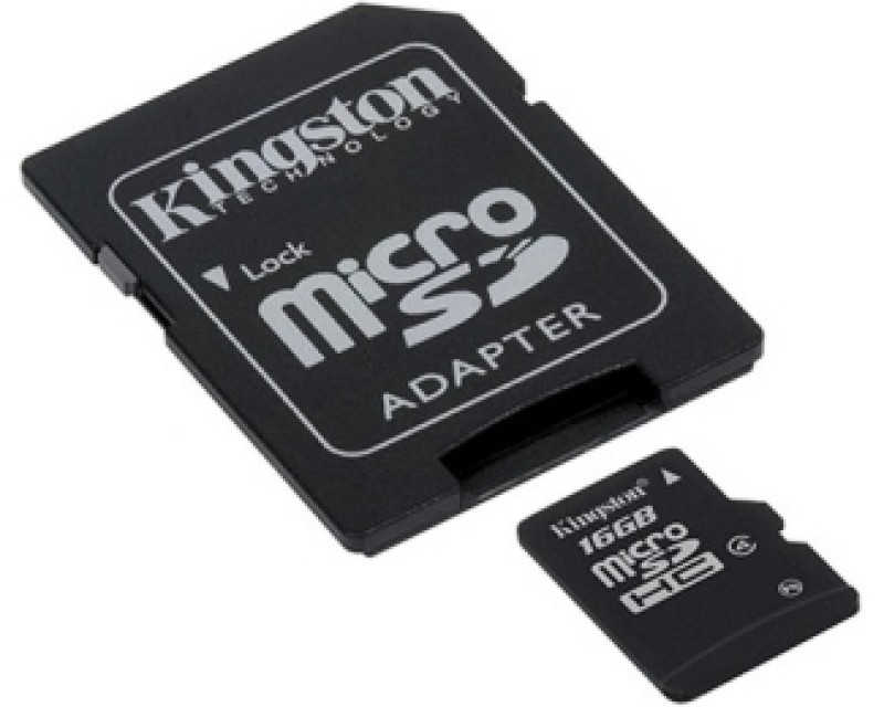 KINGSTON MicroSDHC 16GB class 4 + adapter SDC416GB