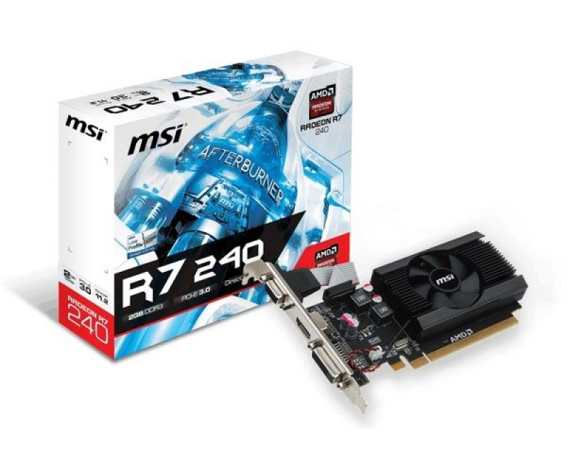 VGA PCIe MSI R7 240 2GD3 64b LP