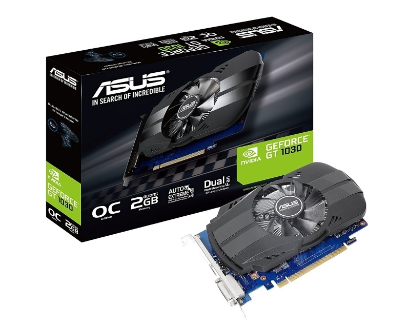 ASUS nVidia GeForce GT 1030 2GB 64bit PH-GT1030-O2GD4