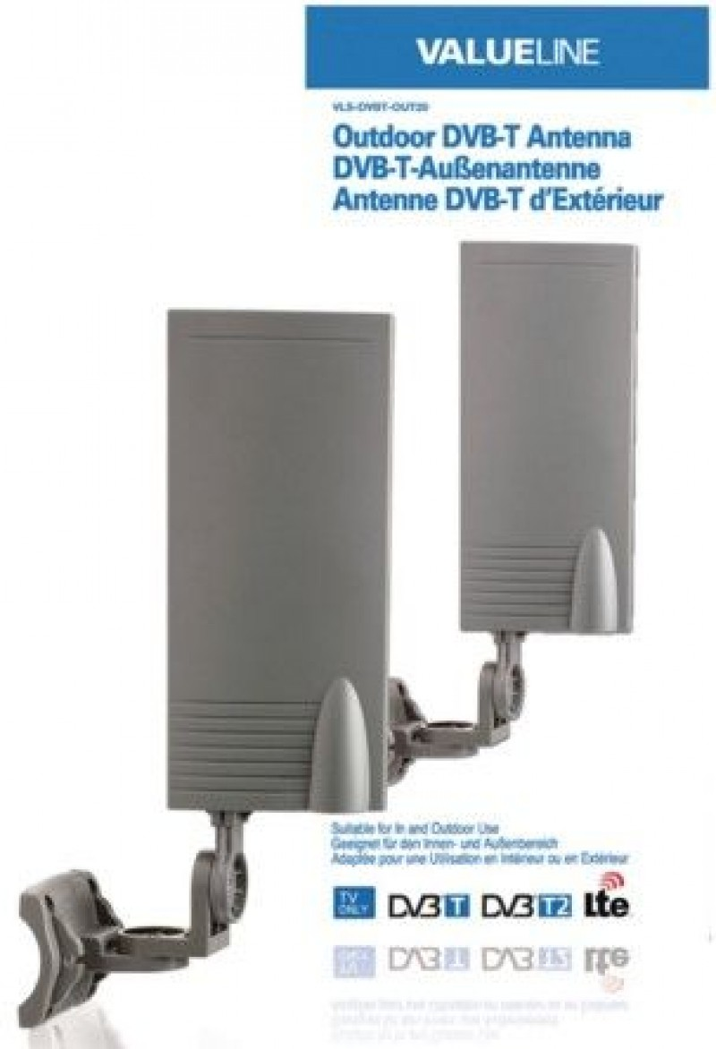 VLS-DVBT-OUT20 Outdoor DVB-T antenna for in and outdoor use 15 dB