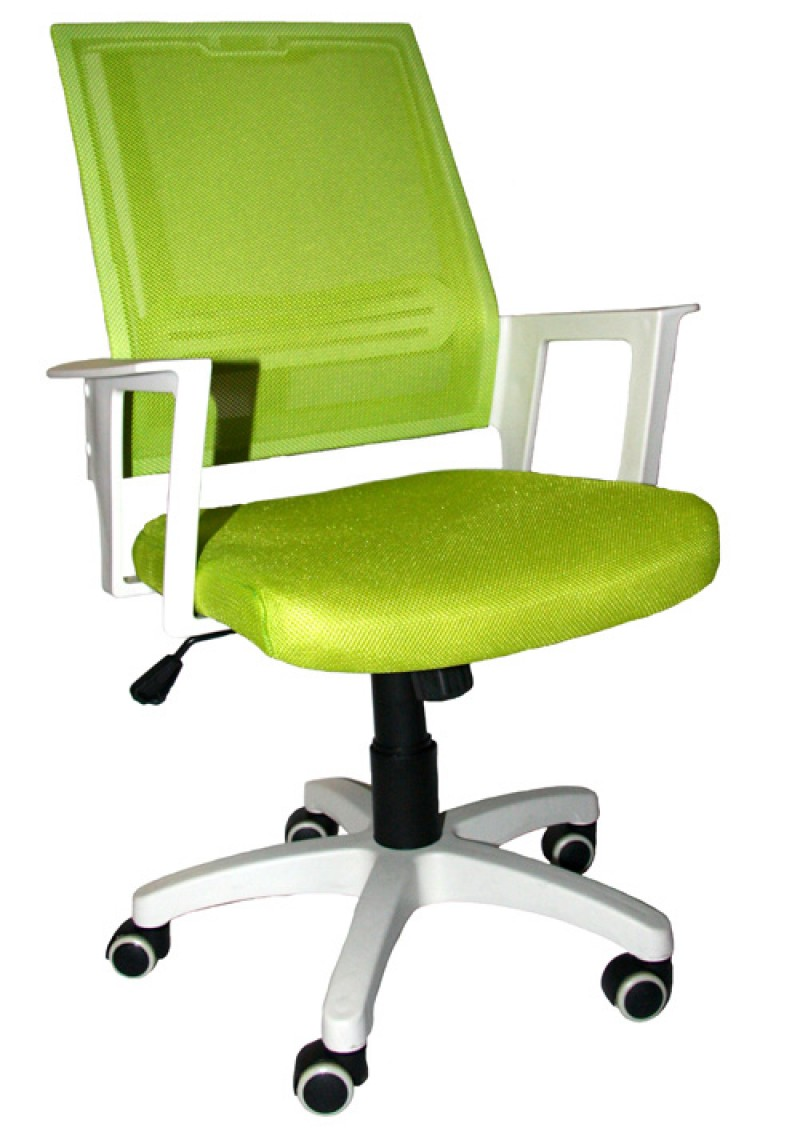 Office Chair DSM04 Green/White (Mesh,PU)