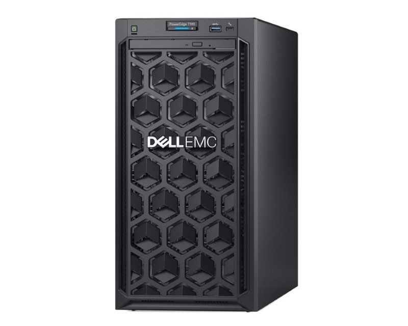 DELL PowerEdge T140 Xeon E-2124 4C 1x8GB H330 2x1TB SATA DVDRW 365W 3yr NBD