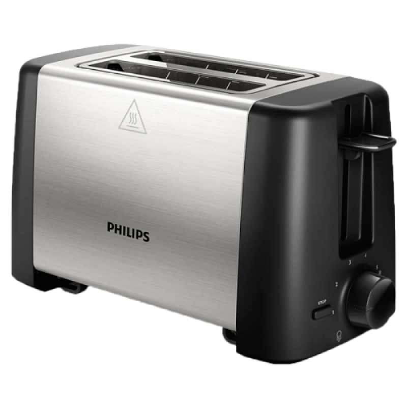 PHILIPS Toster HD4825 90 Crna Inox, 7, 2, 800 W