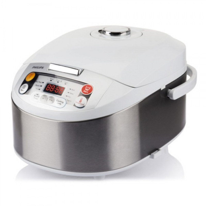 PHILIPS Multicooker HD3037 70 Bela Inox, 980 W