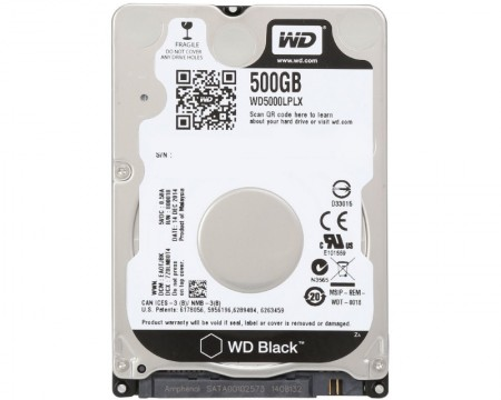 WD 500GB 2.5 SATA III 32MB 7.200rpm WD5000LPLX Black