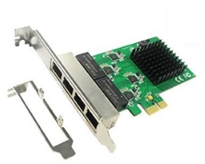 E-GREEN PCI-Express kontroler 4-port Gigabit Ethernet